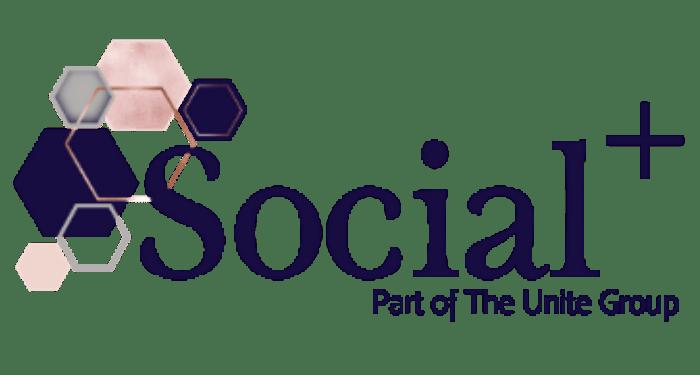 social+ logo, psrt of the unite group, social media management, web design, web maintenance, training