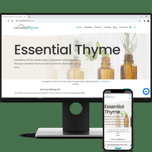 website design essential thyme