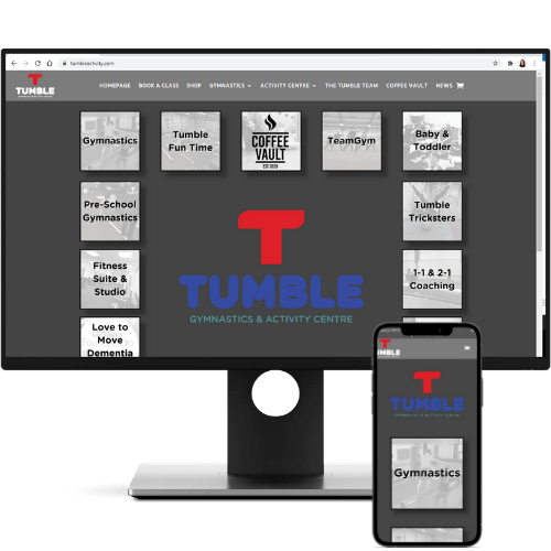 website design tumble gymnastics and activity centre