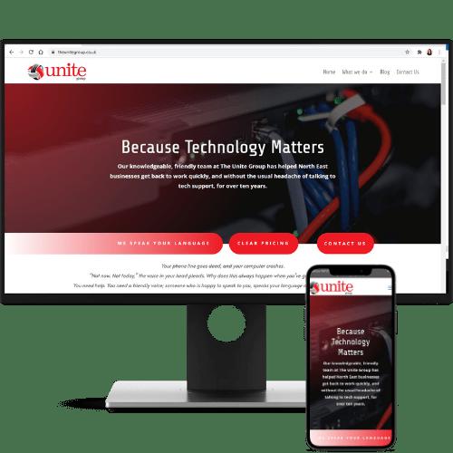website design the unite group