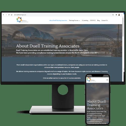 website design duell training associates